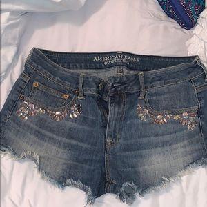 American Eagle Festival Jean Shorts